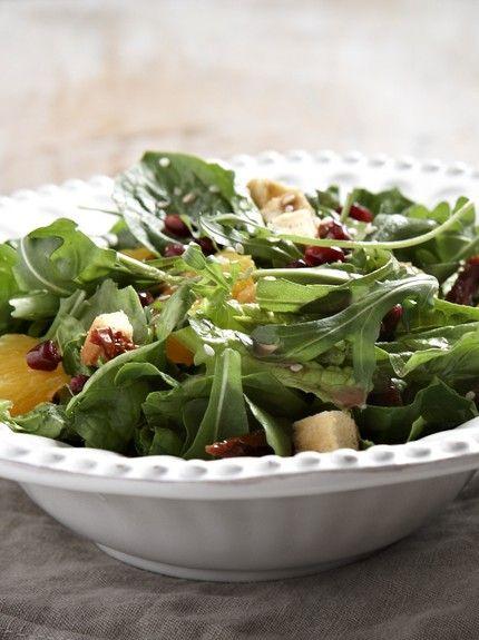 πράσινη σαλάτα με κόκκινα φασόλια - Ωδή στο ρόδι